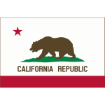 Flag of Calfornia Cook v11 Solid color border