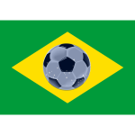Brasil flag of football vector image