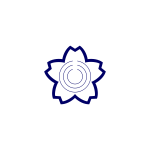 Vector image of blue seal of Sakuragawa