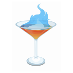 Burning cocktail vector illustration