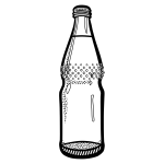 Vector clip art of empty mineral water bottle