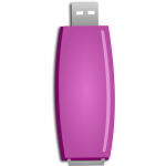 Pink flash drive vector image