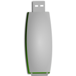 Green and white USB stick vector illustrtaion