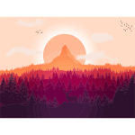 Flat Shaded Forest Landscape