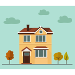 Flat Shaded House Scene