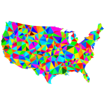 Low poly USA map