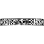 Drawing of rectangular black and white ornamental banner