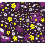 Background With Colored Flowers