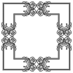 Floral Flourish Frame Interpolated 4