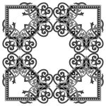 Floral Flourish Frame Interpolated 5