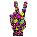 Floral Peace Hand Sign