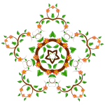 Illustration of star-shaped floral element