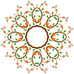 Image of circle-shaped floral tree