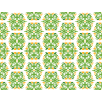 Floral background in green and yellow