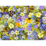 Colorful flowery background