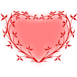 Heart with floral frame
