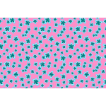 Floral pattern on pink background