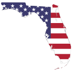 Florida America Flag Map With Stroke
