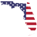Florida America Flag Map
