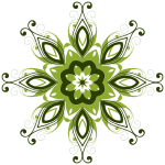 Green flower design element vector image