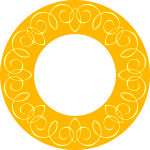 Yellow round frame
