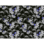 Flourishy Floral Pattern Background