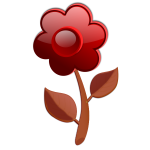 Gloss brown flower on stem vector image