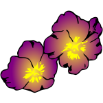 Two Flowers purple violet