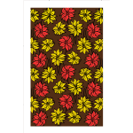 Flower pattern in brown