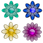 Flowers with eight petals vector image
