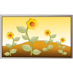 Flowers in field vector image