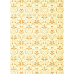 Flowery Pattern Yellow Background