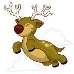 Flying reindeer vector image