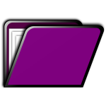 Purple folder icon
