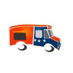 Food truck vector drawing