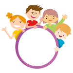 Four kids and circle