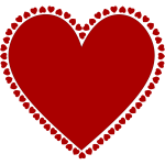 Frame of hearts vector drawing
