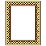 Picture frame with yellow decoration