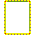 Vector image of frame with rounded corners