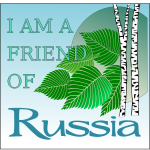 Vector image of green nirchl on Russia poster