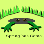 ''Spring has come'' with frog
