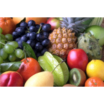 Vector image of smorgasbord of fruits