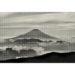 Fuji Mountain Grainy Texture