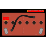 Airplane battery vector