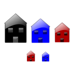 Vector image of glossy home icons