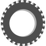 Vector image of fancy gear wheel