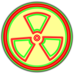 Florescent radioactive sign vector image