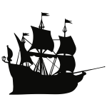 Galleon ship silhouette