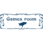 ''Games room'' door sign