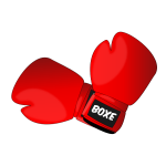 Red boxing gloves vector clip art